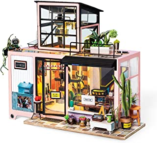 Rolife Dollhouse DIY Miniature Room Set-Wood Craft Construction Kit-Wooden Model Building Toys-Christmas Birthday Gifts fo...