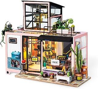 Rolife DIY Miniature Dollhouse Kit Music Studio Room Kit Gifts for Boys Girls Women Friends (Kevin's Studio)
