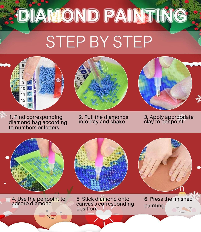 Maysurban Diamond Painting Voll Bilder 5D DIY Diamant Malerei Stickerei Kit Runde Bohrer Erwachsene Kinder f/ür B/üro Wand Haus Dekoration