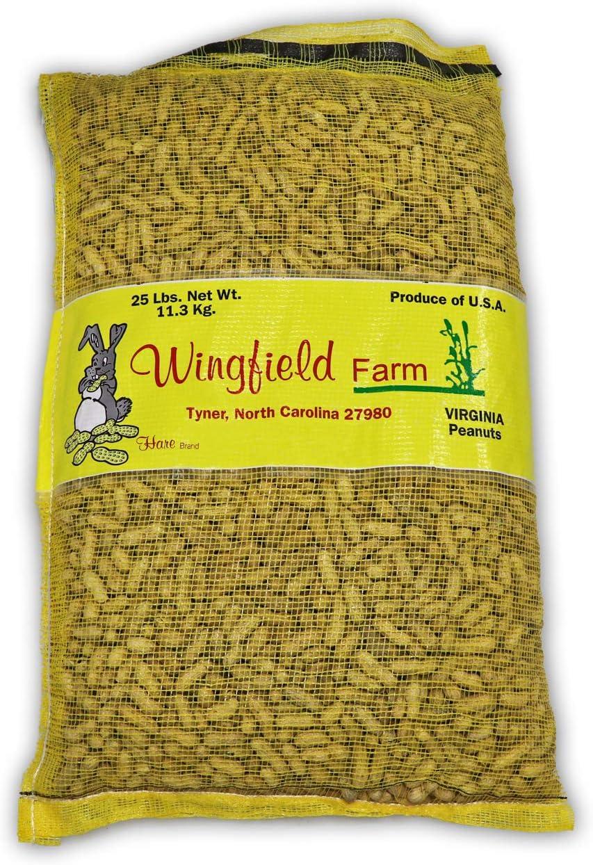 Wingfield Free Shipping Cheap Bargain Max 40% OFF Gift Farm WINGFIELD-25 25 lb in Shell Virginia Peanu Animal