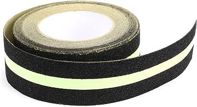 10 meter PVC fluorescerend zwart met groene strepen anti-slip tape 50 mm zelfklevende fluorescerende anti-slip tape
