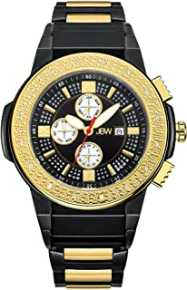 JBW Luxury Men's Saxon 16 Diamonds Multi-Function Swiss Movement Watch - JB-6101-K