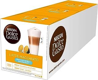 Nescafé Dolce Gusto Latte Macchiato Unsweetened, 3 Pakken, 3 x 16 Capsules