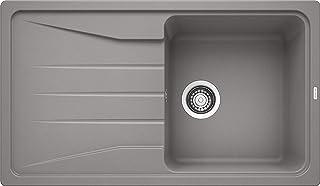 BLANCO Sona 5 S, Küchenspüle, Silgranit Puradur, alumetallic, reversibel, 1 Stück, 519673