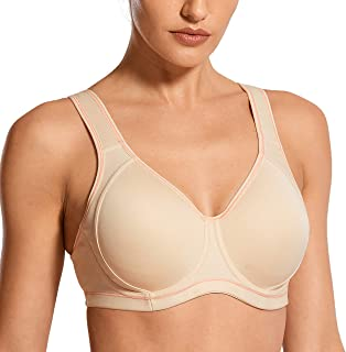 SYROKAN Women's High Impact Full Coverage Underwire Molded Active Workout Sports Bra