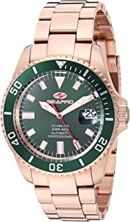 Seapro Men's Scuba 200 Automatic Stainless Steel Strap, Rose Gold, 22 Casual Watch (Model: SP4323)