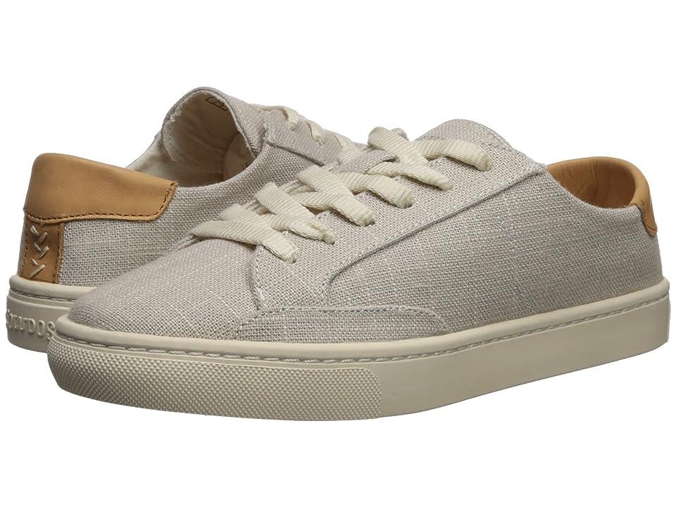 Soludos Ibiza Linen Lace-Up Sneaker (Light Gray) Women