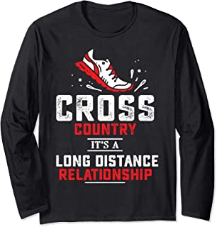 Cross Country Running XC It's a Long Distance Relationship Long Sleeve T-Shirt