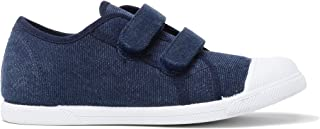 Childrenchic Unisex Hook and Loop Sneakers - Shoes for Boys and Girls (Toddler/Little Kid/Big Kid) Blue Size: 34 M EU/2.5-3 M US Little Kid