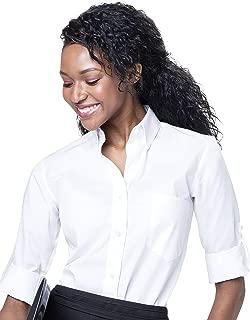 Server Shirts Women's Button-Down Shirt Long Sleeve Button Down Collar, Pocket - Style Ava