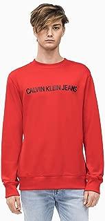 Calvin Klein Men's J30J307758-Racing Red Sweatshirts