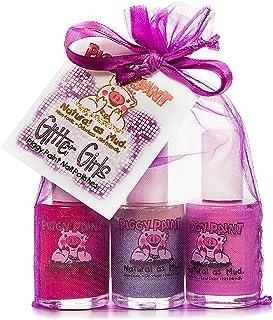 Piggy Paint, esmaltes de uñas, set de regalo de purpurina para niñas, 3