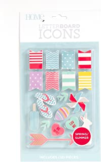 DCWVE Die Cuts with A View Icon Pack Letterboard-Spring/Summer (18 pcs) LP-006-00038