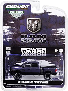 2018 Dodge Ram 2500 Power Wagon Pickup Truck Metallic Dark Purple Hobby Exclusive 1/64 Diecast Model Car by Greenlight 30016
