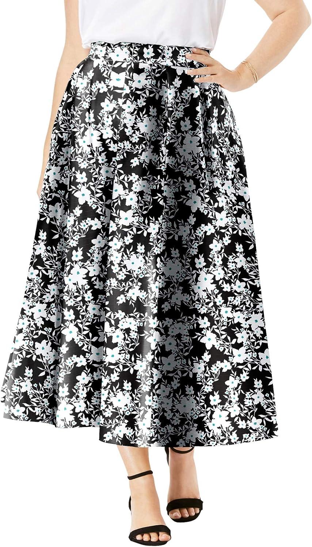 Jessica London Women's Plus Size Floral Skirt