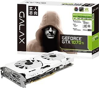 玄人志向 ビデオカード 新シリーズGALAKURO Whiteモデル GEFORCE GTX 1070Ti搭載 GK-GTX1070Ti-E8GB/WHITE