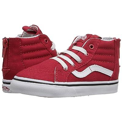Vans Kids Sk8-Hi Zip (Toddler) ((Varsity) Racing Red/True White) Boys Shoes