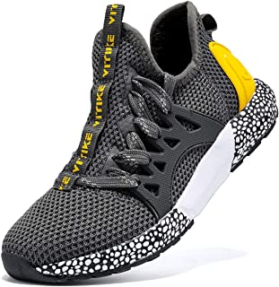 JMFCHI Boys Girls Kids' Sneakers Knitted Mesh Sports Shoes Breathable Lightweight Running Shoes for Kids Fashion Athletic ...
