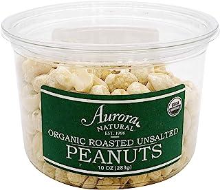 Aurora Products Organic Peanuts, Roasted & Unsalted, 10 oz