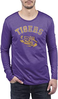 Top of the World NCAA Mens Modern Fit Premium Tri-Blend Long Sleeve Team Color Distressed Mascot Tee