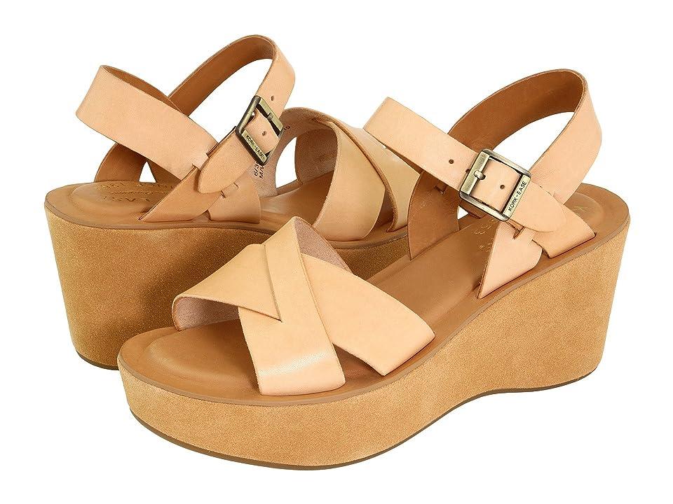 60s Shoes, Boots | 70s Shoes, Platforms, Boots Kork-Ease Ava Natural Vachetta Womens Sandals $140.00 AT vintagedancer.com