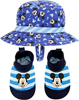 Disney Mickey Mouse Sunny Fun Swim Hat and Swim Booties 0-12 Months [5013] Blue