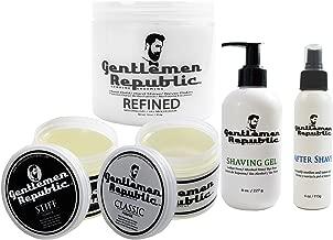 Gentlemen Republic Men's Face & Hair Care Gift Set w/ Gel, Pomade & Aftershave