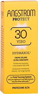 ANGSTROM Protect Crema Solare Viso SPF 30, Stimola la Produzione di Melanina con il Total Tanning System, con Filtri Solar...
