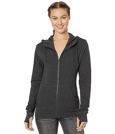 PACT Organic Cotton Lightweight Hoodie (Charcoal Heather) Women