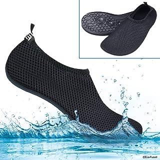 Zapatos de Agua con Tela Transpirable, Elástica y de Secado Rápido con Suela de Goma Antideslizante - Protege contra la Arena, Rayos UV, Rocas, Conchas - Calzado fácil para la Piscina/Playa