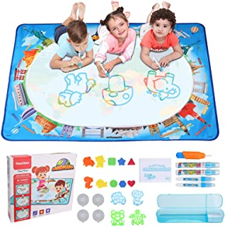 Hautton Magic Doodle Mat, 120 x 90 cm, for Kids Toddlers Boys Girls(Age 3 4 5 6 7 8 Years), Large Water Painting Drawing M...