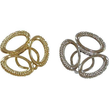 Intercharms© Gioielli per foulard, colore: Argento/Oro