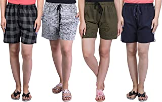 69GAL Women's Cotton Shorts Pack of 4