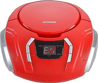 Sylvania Portable CD Boombox with AM/FM Radio - SRCD261B-Red