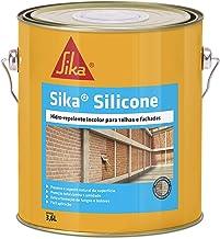 Sika Silicone, torna as superfícies impermeáveis, evita a penetração de água, incolor. Não altera a aparência dos materiai...