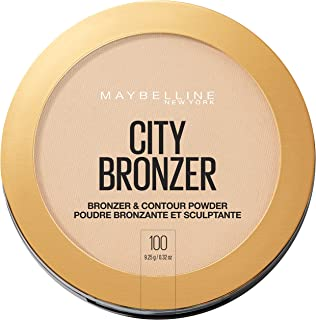 Maybelline New York City Bronzer Powder Makeup Bronzer and Contour Powder, 100, 0.32 Ounce