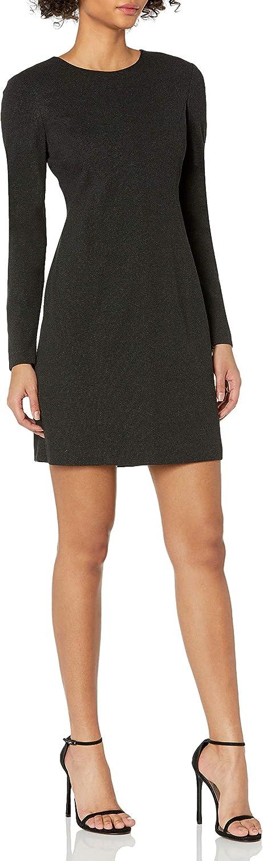 Theory Women's Seamed Long Sleeve Dress K Regent Knit