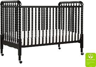 DaVinci Jenny Lind 3-in-1 Convertible Portable Crib in Ebony - 4 Adjustable Mattress Positions, Greenguard Gold