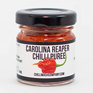 Carolina Reaper Chili Puree / Pepper Mash - UK Made - Natural Ingredients Only - Extremely Spicy Cooking Paste - World's Hottest Chili Puree