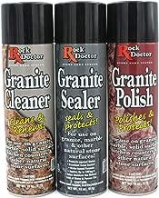 Rock Doctor Granite Care Kit, 3 Piece Maintenance Stone Care Combo Kit – All-in-One Rock Surface Care System Includes Protective Granite Cleaner, Granite Polish & Granite Sealer (18oz Each)