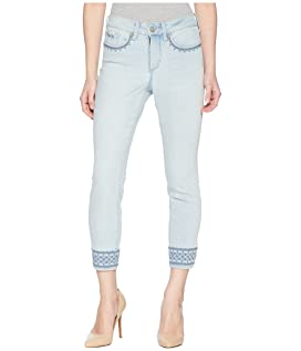 Petite Ami Skinny Ankle w/ Border Embroidered in Palm Desert
