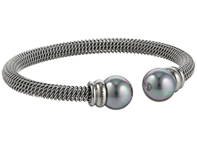 Majorica Steel Bangle Bracelet (Silver/Gray) Bracelet