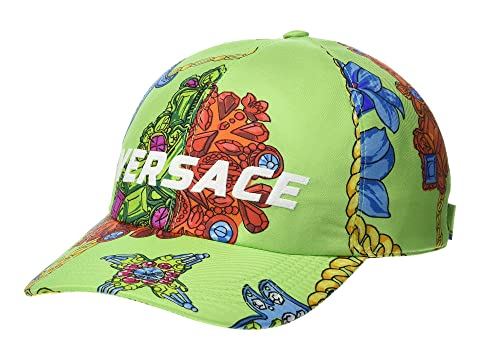 Versace Flower & Chain Print Baseball Hat