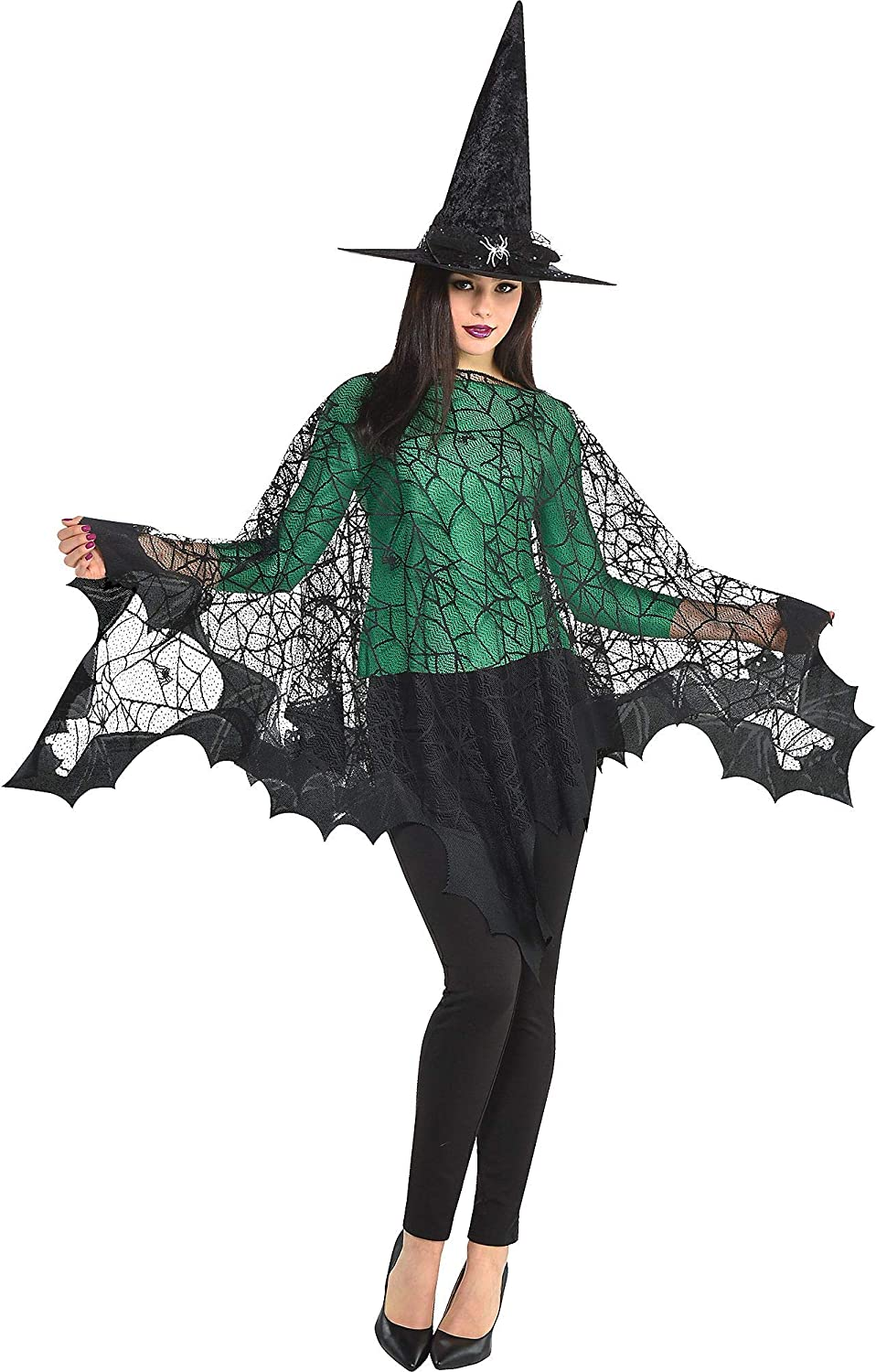 amscan Black Max 57% OFF Spider Web Poncho- One Size 1 pc. Reservation
