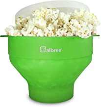 Original Salbree Microwave Popcorn Popper, Silicone Popcorn Maker, Collapsible Bowl BPA Free - 15 Colors Available (Green)