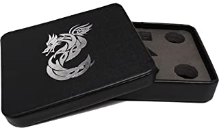 Dice Display and Storage Case - Silver Celtic Knot Dragon Design