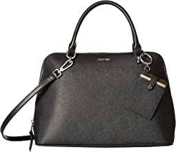 Saffiano Leather Dome Satchel
