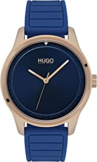 Hugo Boss Men'S Blue Dial Blue Silicone Watch - 1530042