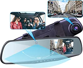 Provision-ISR Hidden Dual Dash Cam, Best Rear View Mirror Camera for Uber Lyft Drivers and HD 1080p with Nightvision, Requires One DIY Installation, Exclusive