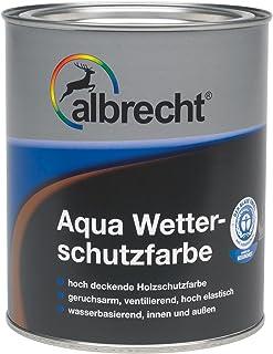 Lackfabrik J. Albrecht GmbH & Co. KG 3400657080040900750 Aqua-Wetterschutzfarbe 0409 taubenblau 750ml, 750 ml